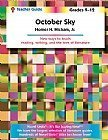 October Sky Teacher Guide, Novel Units, Inc., 1581308167