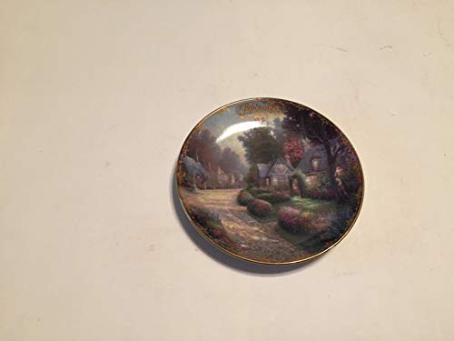 BRADFORD EXCHANG Celebrate America Hometown Pride Thomas Kinkade Collector Plate Small 5 1/2 INCHES