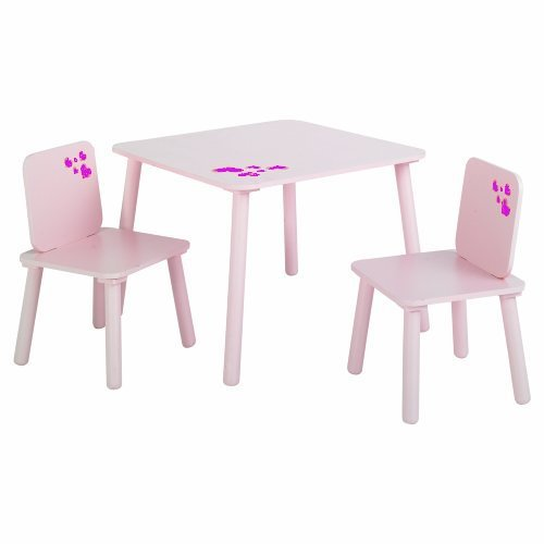 KIDS Room Furniture Pretty Pink Purple hearts Childrens Girls – Girls Table and Chair