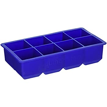 Large Blue Ice Cube Tray, Set of 2 Silicone Ice Trays By Scotch Rocks