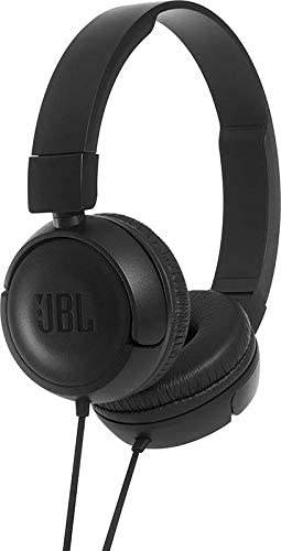 JBL Harman T450 On-Ear Lightweight Foldable Headphones with Mic – Black