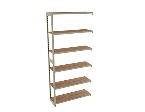 Tennsco RGL-1236A Regal Shelving Add-On Unit, 6 Shelves/5 Openings, 36