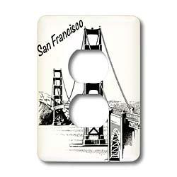 3dRose Lsp/_149784/_6 San Francisco  Golden Gate Bridge  2 Plug Outlet Cover