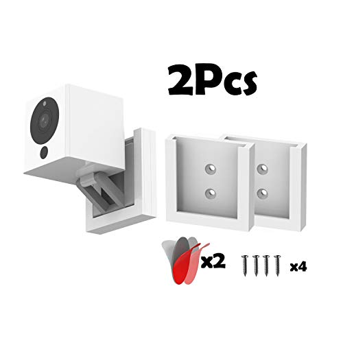 (Pack of 2) Wyze Cam V2 Wall Mount Holder Wyze Camera Wall Mount Bracket Wyze Cam 1080p HD Camera iSmart Alarm Spot Camera,Outdoor Indoor Use,Full Install Kit to Protect from Dust/Drop by YCL