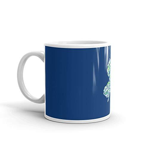 New Jersey Pattern Mug 11 Oz White Ceramic