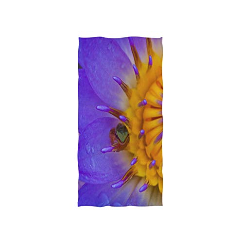 Pingshoes Fondo De Pantalla Water Lily Frog Hand Towels Cotton Washcloths Face Cloth Soft Wash Cloths for Home Kitchen Bathroom Spa Gym Swim Hotel Use]()