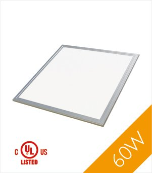 Troffer 2'x2' 60 Watt UL, DLC LED Panel Light, Warm White 3000k, 5200 Lumens, (2 Foot Fluorescent Wall Mount)