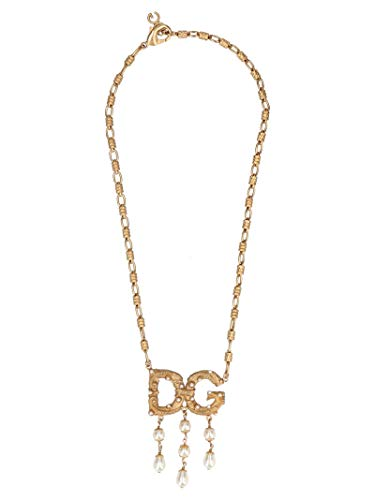 Dolce & Gabbana Gold Necklace - Dolce E Gabbana Women's Wnl6a1w1111zoo00 Gold Metal Necklace