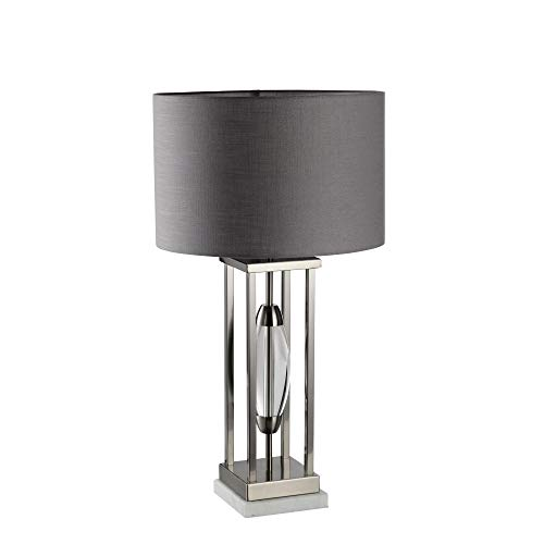 Sagebrook Home 50082-02 Metal Table Lamp Clear Oval Center, Gray/Silver, 29