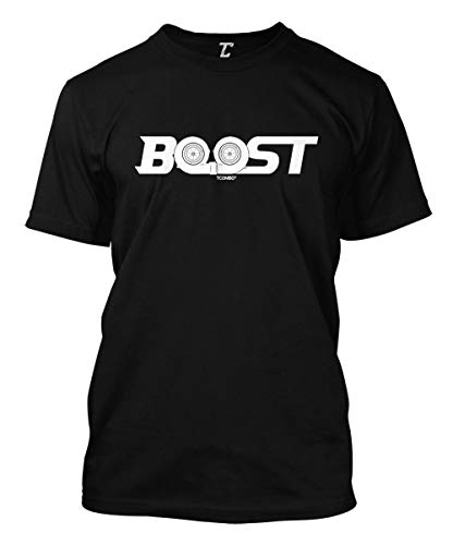 (Boost - Twin Turbo Street Racing Men's T-Shirt (Black, Large))