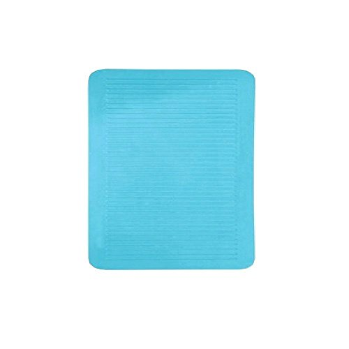 Leifheit Groove Light Blue Shower Stall Mat Safety Insert 22x22in. by Spirella