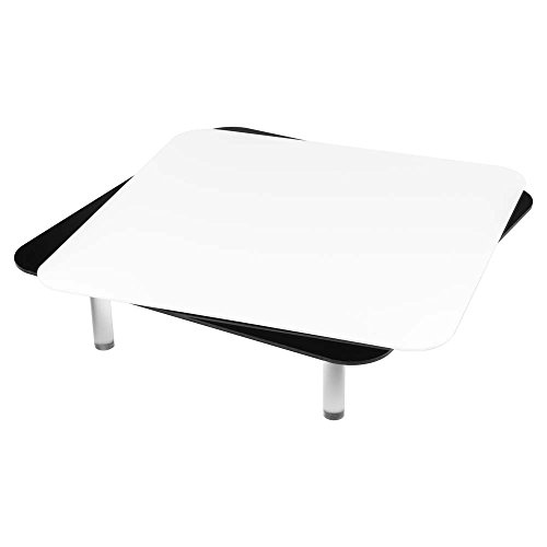 Interfit PSTMT12 Studio Essentials Low-Profile - 12'' x 12'' Magnetic Tabletop Display Table with Reflective Surfaces, Black/White by Interfit