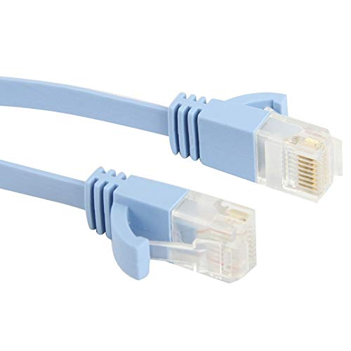 LIAOTIAN Length CAT6 Ultra-Thin Flat Ethernet Network LAN Cable 3m Baby Blue