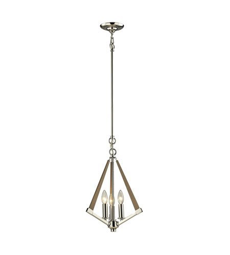 Pendants 3 Light With Polished Nickel Finish Candelabra 12 inch 180 Watts - World of (Garnet Nickel Three Light)