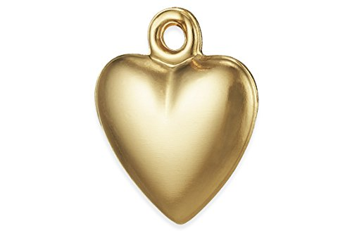 lled Heart Charm 9.8x12 mm (12 Light Rounded Pendant)
