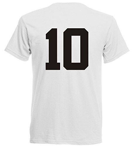 Albanien EM 2016 T-Shirt Trikot - Übergröße 3XL - 5XL - weiss 10