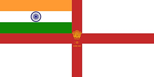 magFlags Large Flag Naval Ensign of India | landscape flag | 1.35m² | 14.5sqft | 80x160cm | 30x60inch – 100% Made in Germany – long lasting outdoor flag