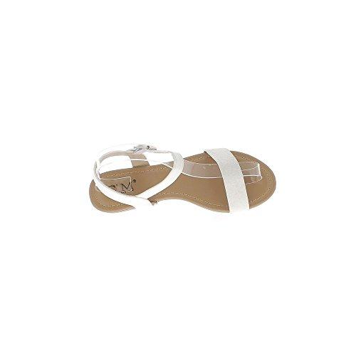 Barfuss Leder weiß Aussehen und Pailletten
