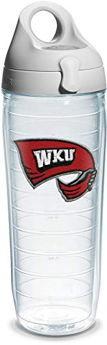 (Tervis Western Kentucky University Emblem Individual Water Bottle with Gray Lid, 24 oz, Clear - 1073810)