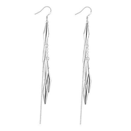 fonk: silver plated earing Cute Leaf drop earring For Women SMTE317