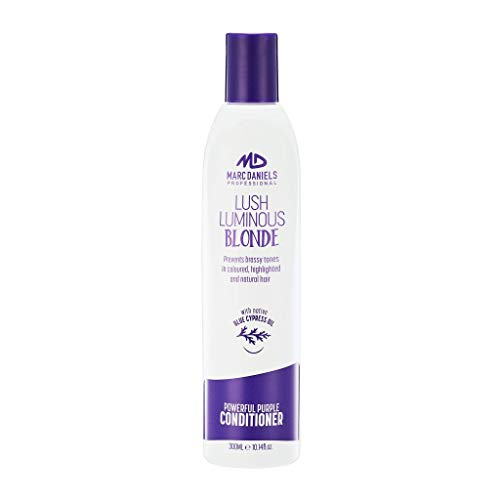 Powerful Purple Toning & Moisturizing Conditioner, Sulfate Free - Prevents, Balances Brassiness in Blonde, Color Treated, Silver, Grey Hair - Paraben Free, Vegan Friendly by MARC DANIELS Professional
