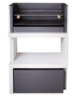 Barbacoa de Obra máximo diseño y calidad,De hormigón bruto hidrófugo blanco y negro 116x78cm: Amazon.es: Hogar