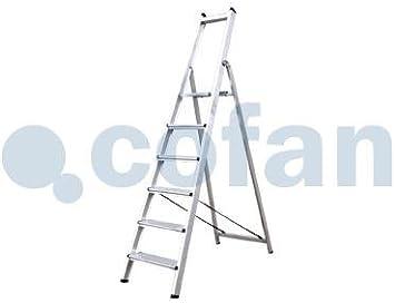 Cofan 09401050 Escalera Reforzada 5 Peldaños 1,74 m: Amazon.es: Bricolaje y herramientas