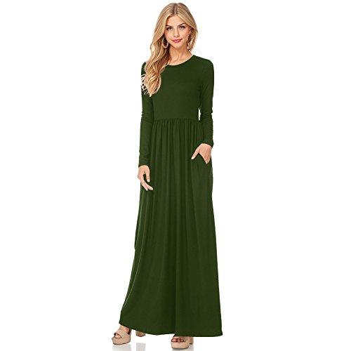 Vestido Vestido De Fiesta XINGMU O Mujeres Vestido Cuello Green Visten w1xKIYfYCq