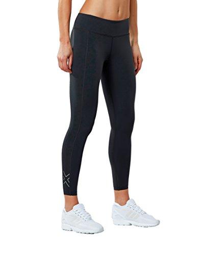 2XU Women's Fitness Compression Tights, Dark Charcoal/Silver, Medium/Tall by 2XU (Image #4)