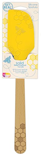 (Talisman Designs 2900 Embossed and Laser Etched Bee Collection Silicone Spatula with Solid Beechwood Handle)