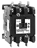 Eaton C25FNF375A Definite Purpose Contactor, 50mm, 3 Poles, Box Lugs, Quick Connect Side By Side Terminals, 75A Current Rating, 5 Max HP Single Phase at 115V, 20 Max HP Three Phase at 230V, 50 Max HP Three Phase at 480V, 120VAC Coil Voltage