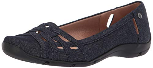 (LifeStride Women's Diverse Ballet Flat, Denim, 7 M US)