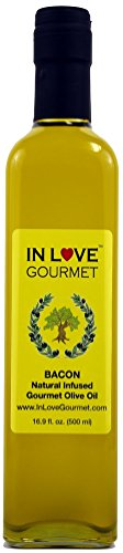 Bacon Natural Flavor Infused Gourmet Olive Oil 500ML/16.9oz By In Love Gourmet