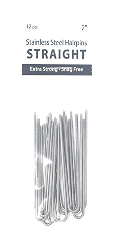 Marilyn Fayes U-Shaped Straight Hair Pins - 2in (Set of 12)