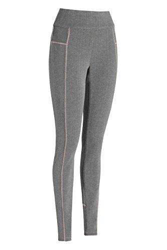 next Mujer Leggings Pantalones Vaqueros Costuras Deportivas De Mezcla De Algodón Gris