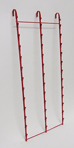 New Retail Hanging Clipper Display Grid Panel Rack 36 Clips Red by Counter Display (Image #6)