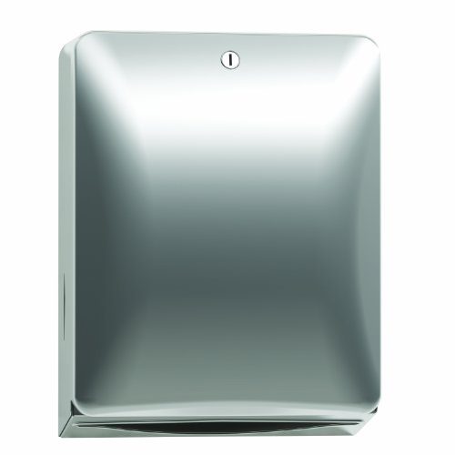 Bradley 2A10-110000 Diplomat Stainless Steel Surface Mounted Folded Paper Towel Dispenser, 11'' Width x 14-3/8'' Height x 5-1/4'' Depth by Bradley
