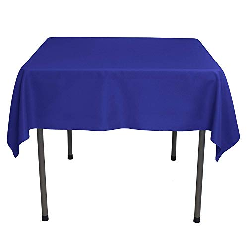 (YRYIE 54 inch Polyester Tablecloth for Square Table Washable Solid Polyester Table Cloth for Buffet Table,Parties, Baby Shower,Wedding Kitchen Dinner,Royal Blue)