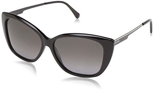 Vera Wang Women's V442 Cateye Sunglasses, Black, 54 ()