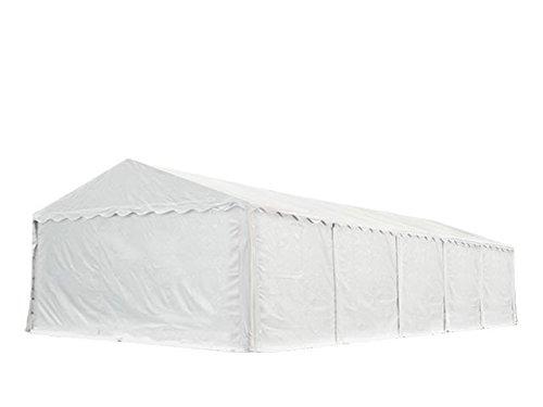 XXL Lagerzelt PROFESSIONAL 6x10m, hochwertige 550g/m² PVC Plane in weiß, vollverzinkte Stahlkonstruktion, Ø Stahlrohre ca. 50 mm, Seitenhöhe ca. 2,6 m