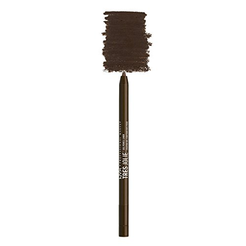NYX PROFESSIONAL MAKEUP Tres Jolie Gel Pencil Liner, Brown, 0.017 Ounce