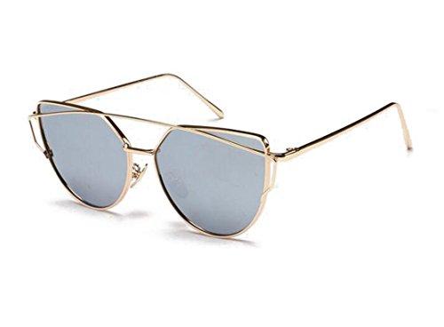 GAMT Vintage Metal Frame the Color Film Polarized Sunglasses Gold-framed piece of - Gold Eyeglasses Framed