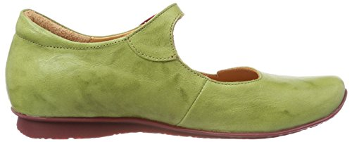 Ankle Blue 282107 59 Kombi Chilli 5 Flats Women's Apfel Think UK Ballet Strap Green tq06Ow