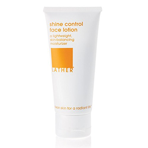 LATHER Shine Control Face Lotion 2 oz – daily-use, lightweight gel face lotion that balances oily or blemish-prone skin (Moisture Control Lotion)