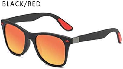 GGreenary Herren Sonnenbrille Polarized UV400 Protection Vintage Eyewear für das Fahren von Reisen (Lenses Color : BlackRed)
