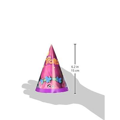 Unique Trolls Party Hats, 8 Ct.: Toys & Games