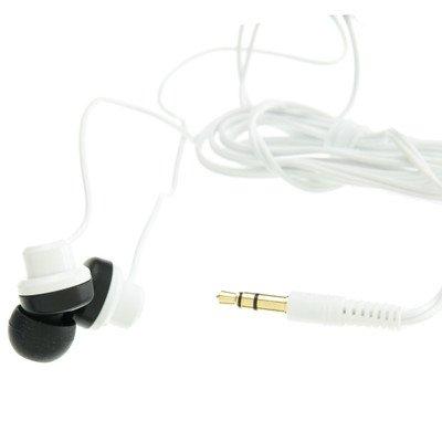 White JVC Riptidz Inner-Ear Earbuds Headphones ( 100 PACK ) BY NETCNA