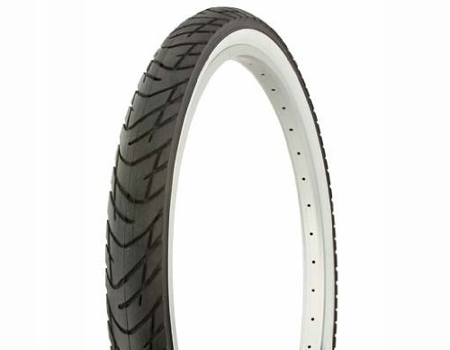 Tires Slick Bicycle (Duro Slick Tire 26in x 2.125in, White Wall)