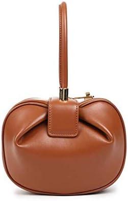2020 leather bag female niche design handbag European and American fashion retro wonton dumpling wonton female bag satchel