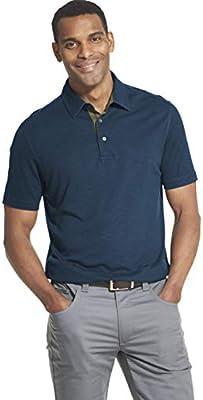 Van Heusen Mens Short Sleeve Air Performance Solid Polo Shirt